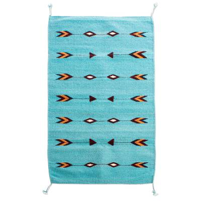 Hand Loomed Wool Area Rug (2x3)