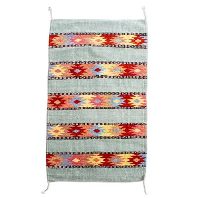 Multicolored Woven Wool Area Rug (2x3)