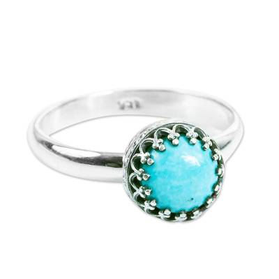 Natural Turquoise Single-Stone Ring