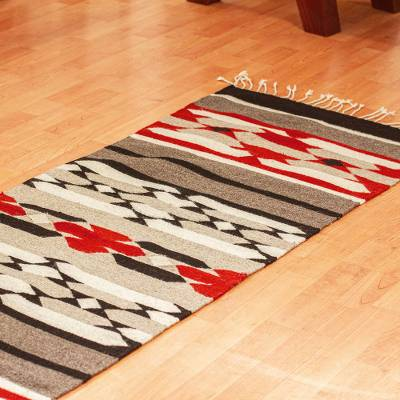 Zapotec wool runner, 'Sierra Norte' (2x6) - Hand Woven Wool Runner Rug (2x6)