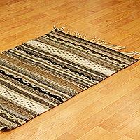 Zapotec wool rug, 'Oaxaca Winter' (2x3.5)