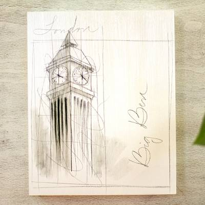 'Monuments of the World: Big Ben' - London's Big Ben Original Artwork