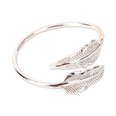 Mexican Taxco Sterling Silver Banana Leaves Wrap Ring