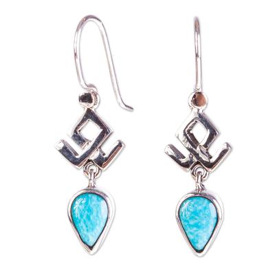 Handmade Turquoise Dangle Earrings