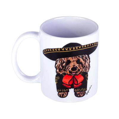 Art Print Mug with Dog
