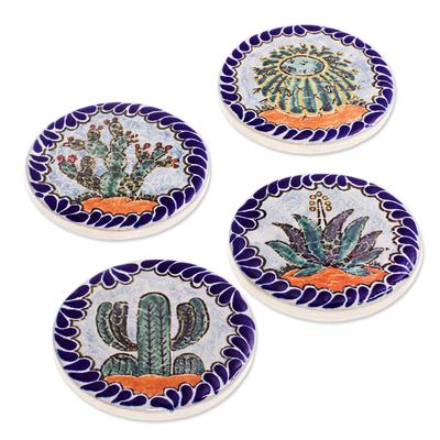 Hand Painted Ceramic Coasters (Set of 4)