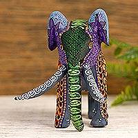 Copal wood alebrije, 'Mystic Elephant' - Copal Wood Elephant Alebrije from Mexico