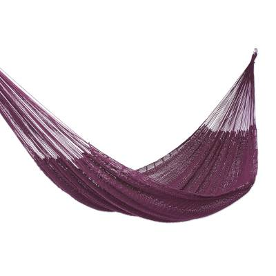 Hand Woven Cotton Rope Hammock (Single)
