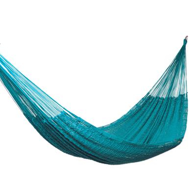 Azure Cotton Rope Hammock (Single)