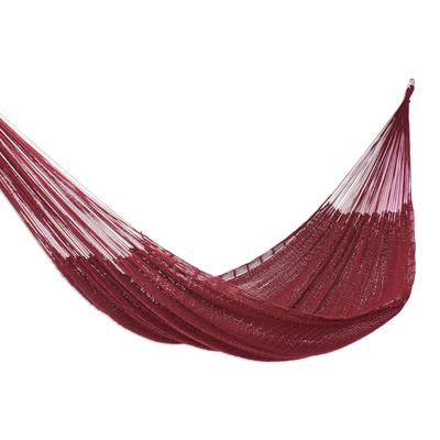 Maya Style Cotton Rope Hammock (Double)