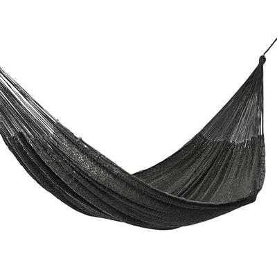 Handmade Black Rope Hammock (Triple)