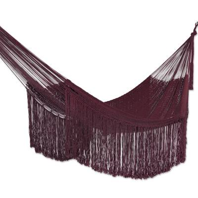 Cotton Rope Hammock in Wine (Triple) from Mexico