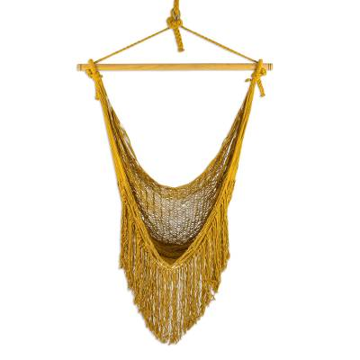 Hand Woven Cotton Rope Mayan Hammock Swing from Mexico