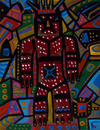 Unique Painting of Aztec Deity