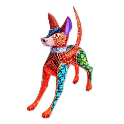 Copal Wood Mexican Hairless Dog Alebrije from Mexico