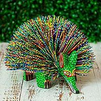 Wood alebrije sculpture, 'Porcupine Spirit' - Copal Wood Porcupine Alebrije Sculpture from Mexico