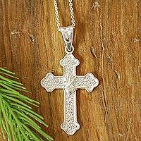 Anxiety Necklace Natural Diamond Necklace Opal Pendant Cross Bead Necklace Religious Necklace Boho Necklace. 925 Silver Necklace