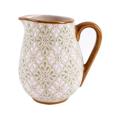Artisan Crafted Ceramic Pitcher from Mexico