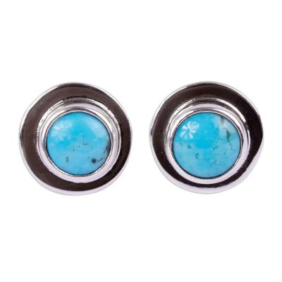 Natural Turquoise Stud Earrings