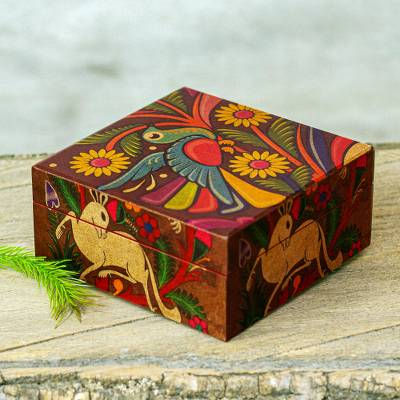 Folk Art Decoupage Decorative Box