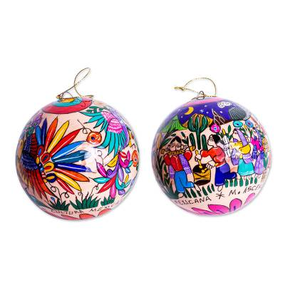 Multicolored Christmas Ornaments (Pair)