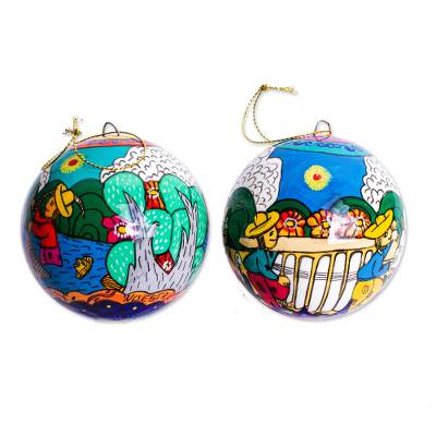 Artisan Crafted Ornaments (Pair)