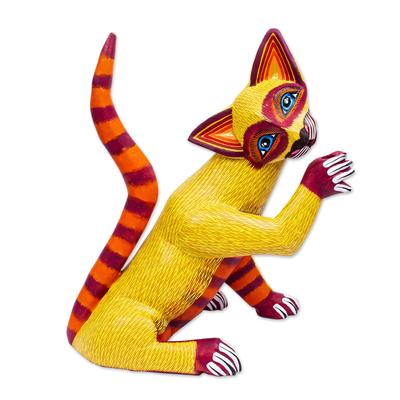 Hand-Painted Cat Alebrije