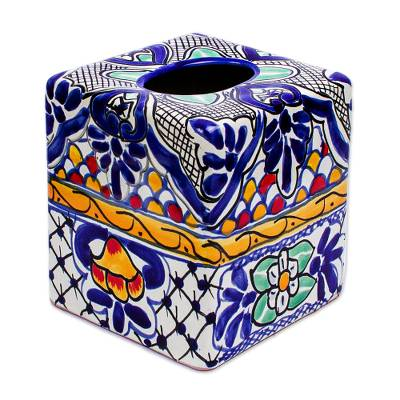 Hand-Painted Tissue Box Cover
