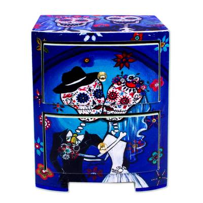Day of the Dead Themed Jewelry Chest