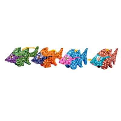 Hand Painted Fish Alebrije Ornaments (Set of 4)