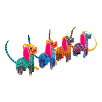 Colorful Dog Alebrije Ornaments (Set of 4)