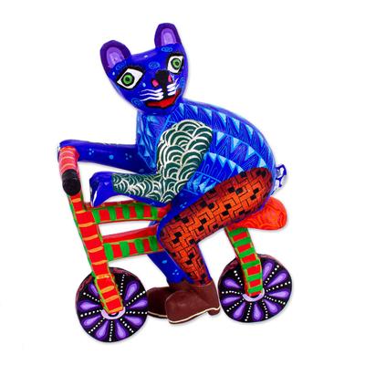 Hand Painted Alebrije Cat Figurine