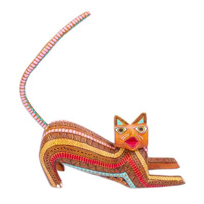 Cat Alebrije Figurine from Mexico