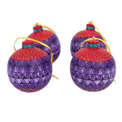 Alebrije-Style Wood Ornaments (Set of 4)