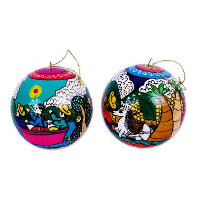 Artisan Crafted Ornaments from Mexico (Pair)
