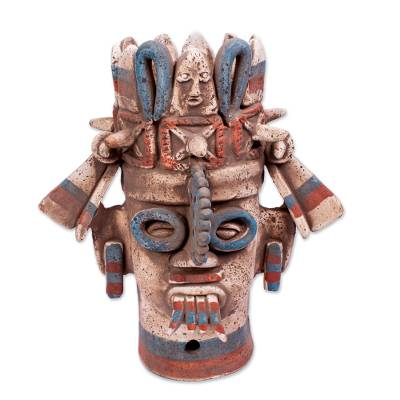 Signed Handcrafted Ceramic Aztec Archaeology Sculpture