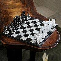 Onyx and marble chess set, 'Classic'