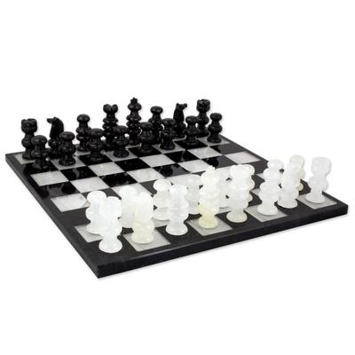 Unicef Market Onyx And Marble Chess Set Classic