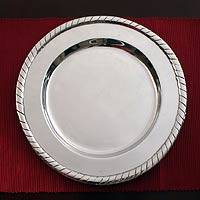 Aluminum chargers, 'Radiance' (set of 4) - Unique Aluminum Charger Serveware (Set of 4) Mexico