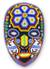 Beadwork mask, 'Shaman Deer' - Authentic Huichol Multicolor Beadwork Mask thumbail