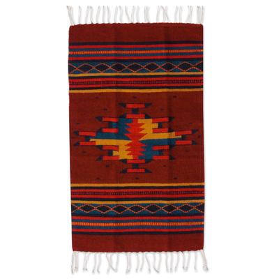 Geometric Oaxaca Wool Area Rug (2x3)