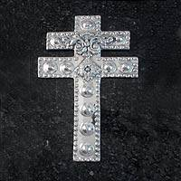 Aluminum cross, 'The Patriarch's Cross' - Aluminum cross