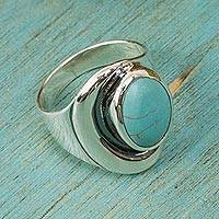 Sterling silver ring, 'Blue Moon'