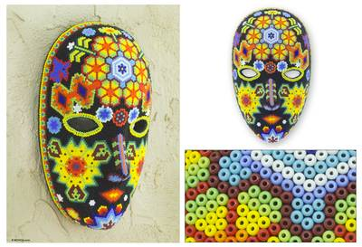 Beadwork mask, 'The Sun' - Beadwork mask