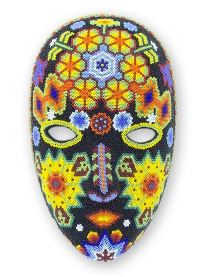 Beadwork mask, 'The Sun' - Beadwork mask
