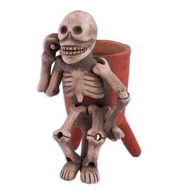 Ceramic Statuette Vessel Day of the Dead Mexico