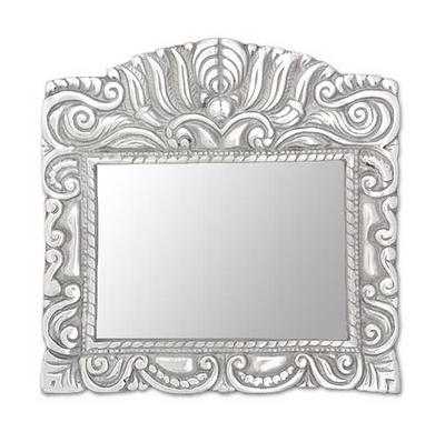 Aluminum Picture Frame 5x7 Mexican Baroque Novica