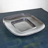 Aluminum plate, 'Minimalist Chic' - Aluminum plate