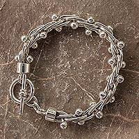 Sterling silver bracelet, 'Charisma' - Hand Crafted Mexican Sterling Silver Women's Bracelet