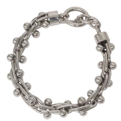 Bracelet, 'Charisma' - Modern Taxco Silver Link Bracelet